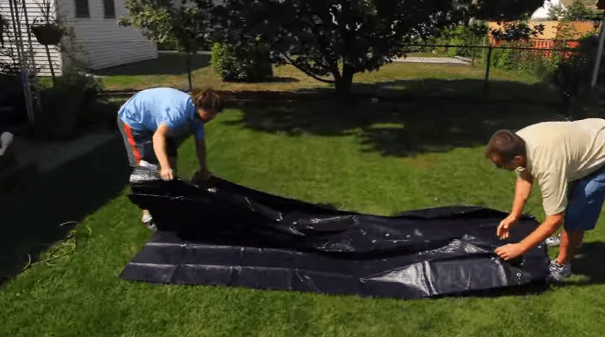 Pool Cover Unfolding