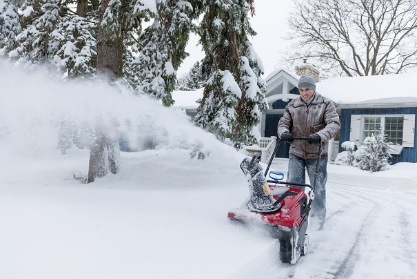 Clear Driveway Using Snow Blower