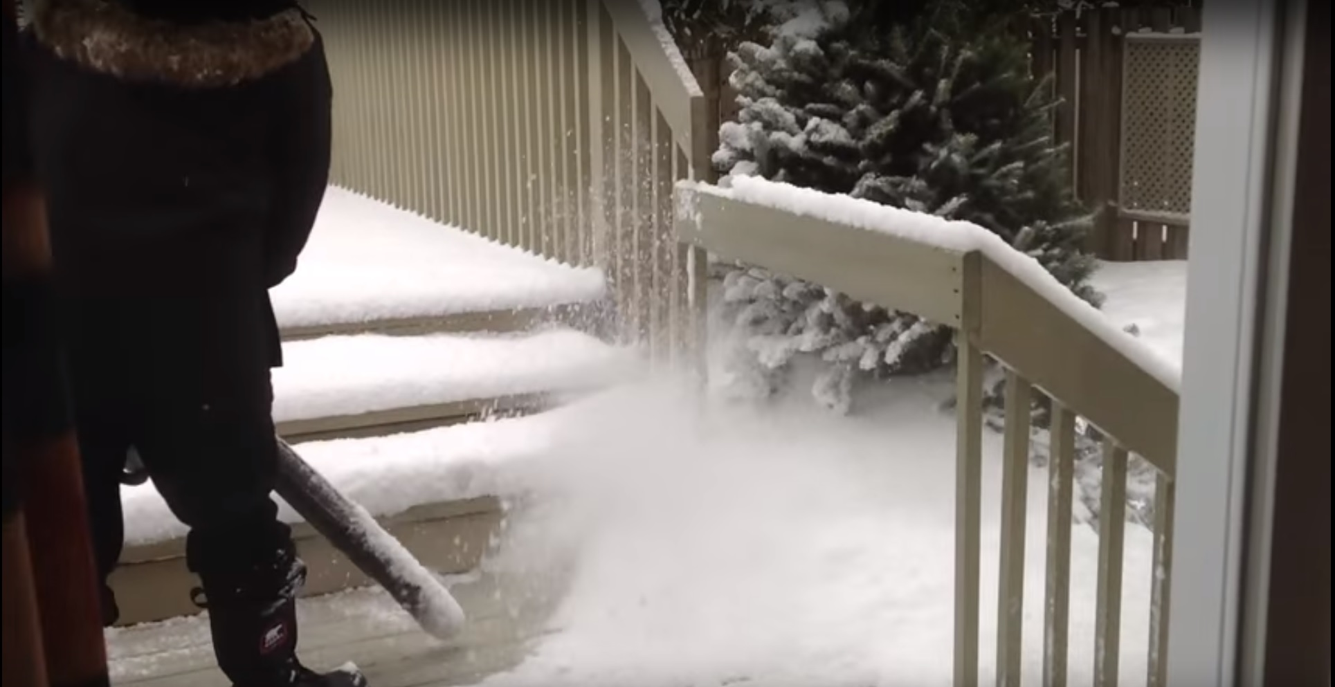 How To Clear Snow Using A Leaf Blower