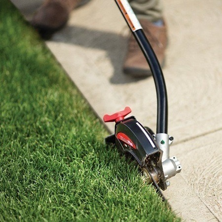 Edging with trimmer