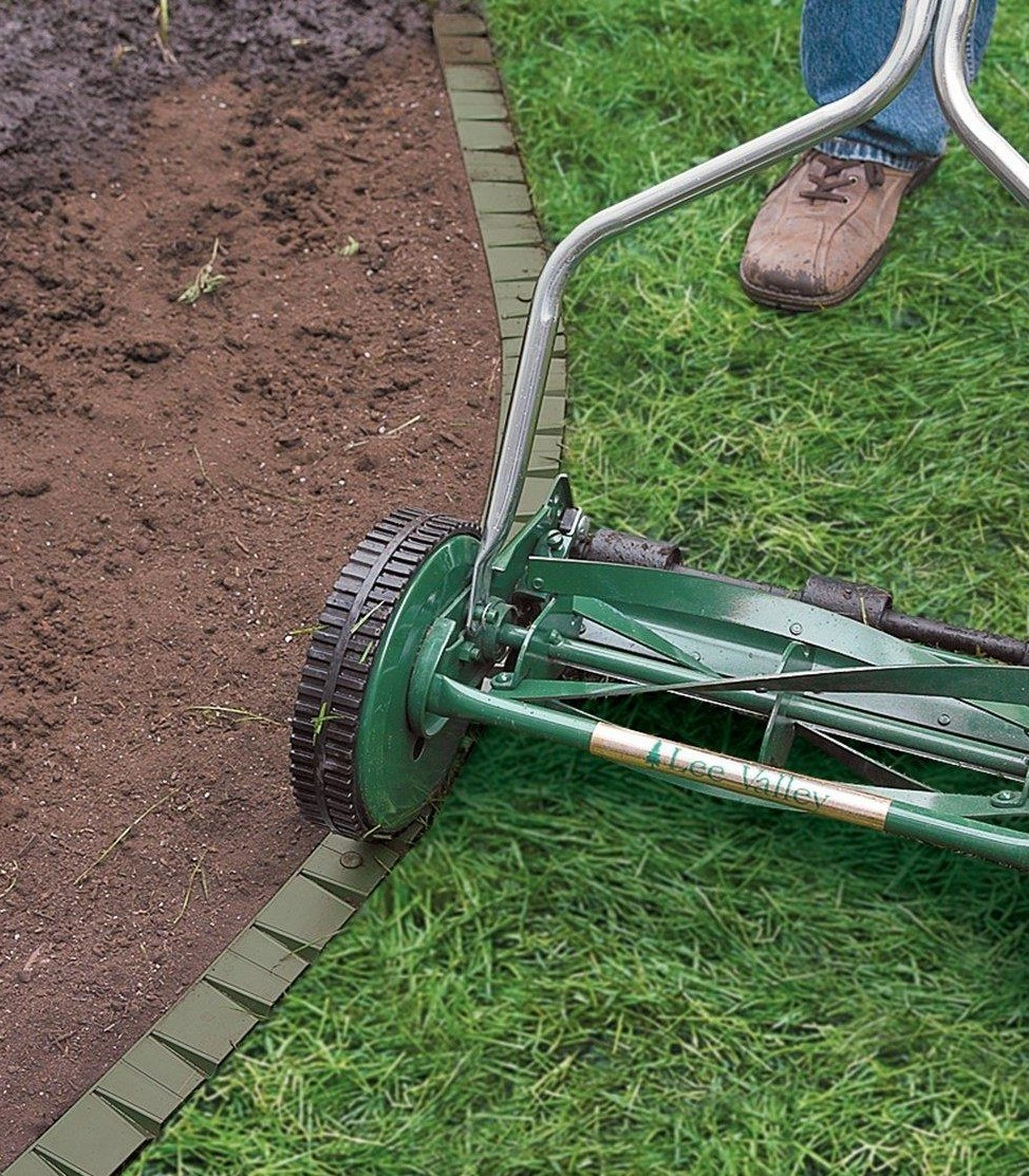 Edging with mower